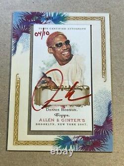 Dennis Rodman 2007 Topps Allen & Ginter Encadré Encre Rouge Automatique /10 Autographe
