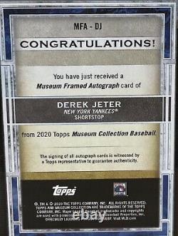 Derek Jeter Auto Topps Museum Collection Museum Framed Autograph 12/15 Argent
