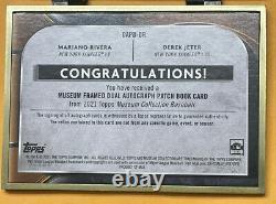 Derek Jeter Mariano Rivera 2021 Musée Topps Dual Auto Patch #1/1 Livre Rare Ssp