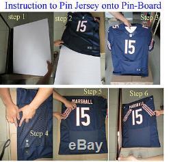 Deux Uv Cas Protect Display Jersey Mur Cadres Football Baseball Verrouillables