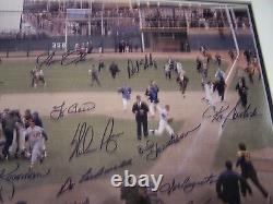 Équipe De La Série Mondiale A Signé Encadré 1969 Mets Ryan Seaver Agee Jones Koosman Garrett