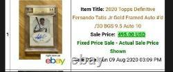 Fernando Tatis Jr Definitive Gold Frame Auto #/30 Bgs 9.5/10 Lire La Description