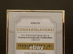 Fernando Tatis Jr Topps Définitif 2020 #dcfa-ftj Gold Framed Auto Auto Auto /30
