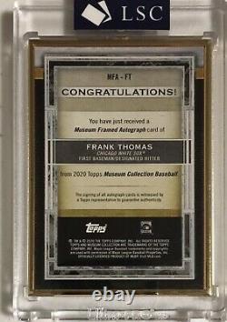 Frank Thomas 2020 Gold Frame Musée Topps Sur La Carte D'or 6/10 Auto White Sox
