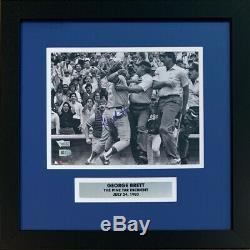 George Brett Autographié Royals Pine Tar Baseball 8x10 Photo Encadrée Fanatics Coa
