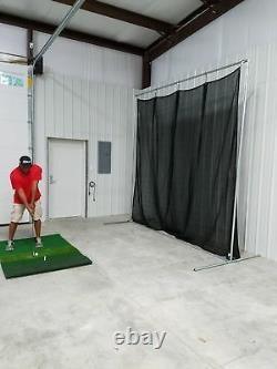 Golf Baffle Net Baseball Fielders Écran Ou Backstop 10' X10' Kit De Cadre En Option