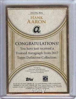 Hank Aaron 2017 Topps Definitive Framed Auto Autograph Braves #ha 1/5