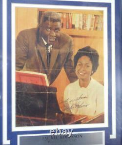 Jackie Robinson Autographié Encadrée 8x10 Magazine Photo Page Dodgers Jsa 126399