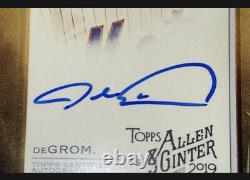 Jacob Degrom 2019 Allen & Ginter Mini Ma-jd Auto Autographe Ny Mets A&g Goat