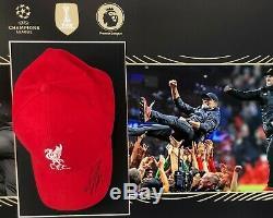 Jurgen Klopp Signé Et Framed Baseball Cap Liverpool Fc Aftal Coa (e)