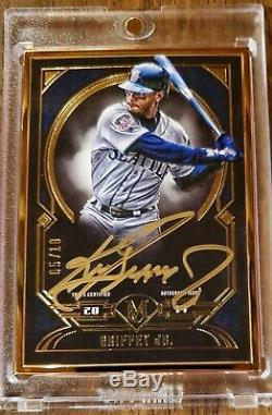 Ken Griffey Jr 2017 Musée Collection Gold Frame Topps Auto # 5/10