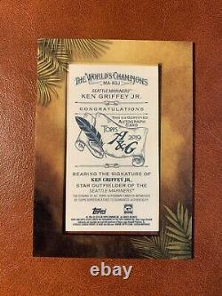 Ken Griffey Jr. 2019 Allen Ginter Mini Framed Auto Autograph Blue Ink Mariners