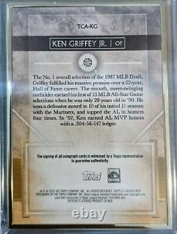 Ken Griffey Jr Auto 2020 Topps Transcendent 09/25. Les Marins De Seattle