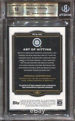 Ken Griffey Jr. Bgs 9.5 2013 Collection Musée Topps Framed Auto Black 5/5 5026