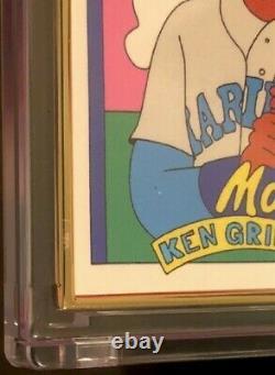 Ken Griffey Jr Topps Project 2020 #201 Gold Frame 1/1 Par Fucci
