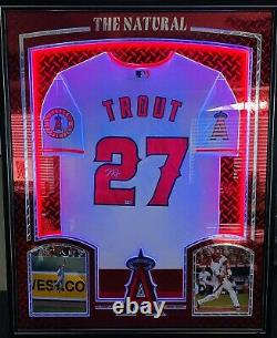 La Angels #27 Mike Trout Signé Autographied Framed Baseball Jersey Mlb Holo