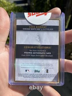 Luis Robert 2020 Topps Sealed Gold Framed Auto #d /75 Sp On-card Black Sox Gem