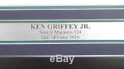 Mariners Ken Griffey Jr. Autographié Encadrée Majestic Jersey Hof Patch 177409