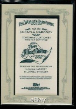 Mckayla Maroney Auto 2013 Allen & Ginter Mini Encadré Médaille D'or USA Autograph