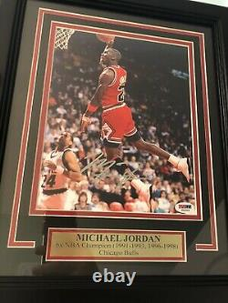 Michael Jordan Signé Auto Chicago Bulls 8x10 Framed Beautiful! Gratuit 1/1