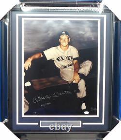 Mickey Mantle Autographié Encadré 16x20 Gallo Photo Yankees Jsa Z26857