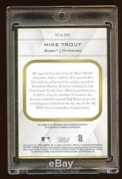 Mike Trout Transcendant Auto Topps / 14 Au 15 Octobre Asg Mvp Gold Frame 52k $ A Set