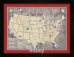 Mlb Major League Baseball Parks Stades Équipes De Suivi Carte De Localisation Imprimer Tbase