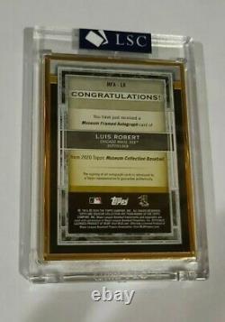 Musée Topps Luis Robert Rookie Gold Frame Sur Gold Card Auto 07/10 Rc Ssprare