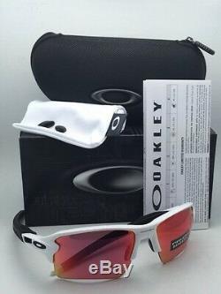 Nouveau Oakley Lunettes De Soleil Flak 2.0 XL Oo9188-03 Cadre Blanc Avec Prizm Lentilles De Base-ball