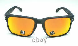 Oakley Holbrook Oo9102-e955 Black Camo Frame / Prizm Ruby Lentilles