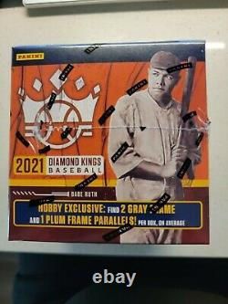 Panini 2021 Diamond Kings Baseball Trading Cards Hobby Box Tout D'abord Hors De La Ligne