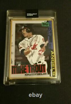 Projet 2020 Mike Trout Gold Frame 1/1 Topps Carte De Baseball #85 Jacob Rochester