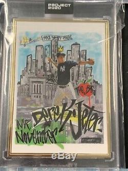Projet 2020 Topps (3) Derek Jeter Roi Saladeen Gold Frame 1/1 Artist Proof # 29