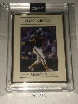 Projet 2020 Topps Encadrement Gold 1/1 # 16 1983 Tony Gwynn Par Oldmanalan Sp Padres