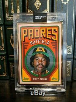 Projet 2020 Topps Encadrement Gold 1/1 # 24 Tony Gwynn Par Grotesk Rc San Diego Padres