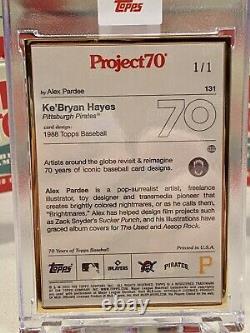 Projet Topps70 Carte 131 1988 Kebryan Hayes Par Alex Pardee Cadre D'or 1/1
