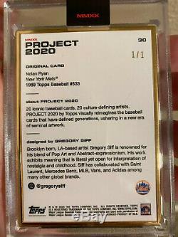 Projet Topps 2020 Nolan Ryan 1969 Par Gregory Siff Gold Frame 1/1 Carte # 30 Mets