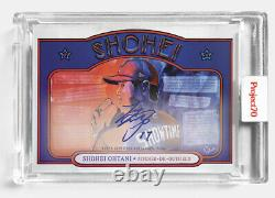 Projet Topps 70 #362 Shohei Ohtani Par Brittney Palmer-on Card Auto #/70 Presale