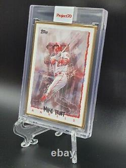 Projet Topps 70 Carte 64 1995 Mike Trout Par Chuck Styles Gold Section 1/1