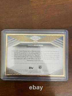 Randy Johnson 2021 Topps Transcendent Hof Gold Framed Variation On-card Auto /20