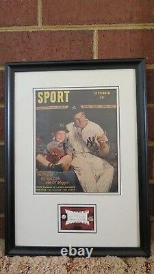 Rare 2001 Sweet Spot Joe Dimaggio Autograph Plus Sport Sept 1946 Magazine Encadré