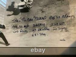 Rare Cardinals Stan Musial Signé Et Encadré Baseball Photo Psa/dna Loa