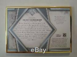 Rickey Henderson 2019 Auto Topps Transcendant Encadrée 10/15 Oakland Athletics