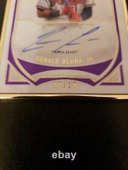 Ronald Acuna Jr 2020 Topps Définitifs 10/10 Encadré Automobile Ssp Purple Rare