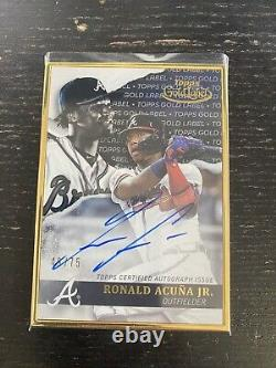 Ronald Acuna Jr Braves 2020 Topps Gold Label On Card Auto Autograph Frame #49/75