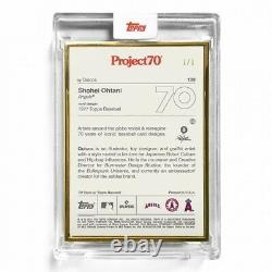 Shohei Ohtani 1 De 1! Topps Project70 1977 Par Quiccs Gold Frame Edition