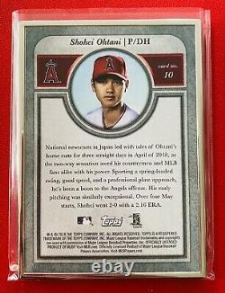 Shohei Ohtani 2018 Topps Transcendent /83 Silver Base Vrai Rookie Card Angels