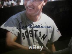 Ted Williams Signé Baseball Autograph Auto Photo Babe Ruth Framed Coa Psa / Adn