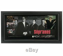 The Sopranos Signée À La Main Encadrée Batte De Baseball James Gandolfini Imperioli