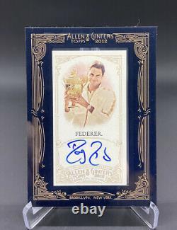 Topps 2012 Allen Ginter Roger Federer Auto Framed Autograph Tennis